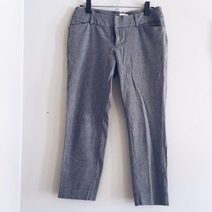 grey cropped stretch work pants trousers 6 / 28